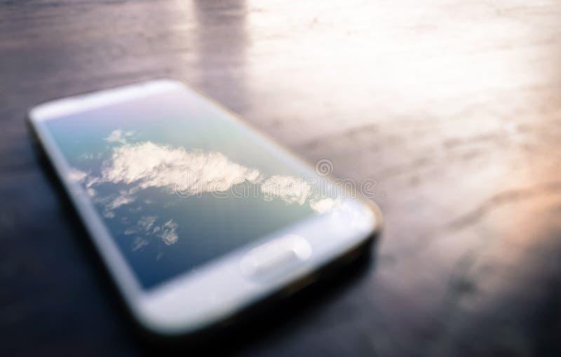Nuvola in telefono cellulare fotografia stock