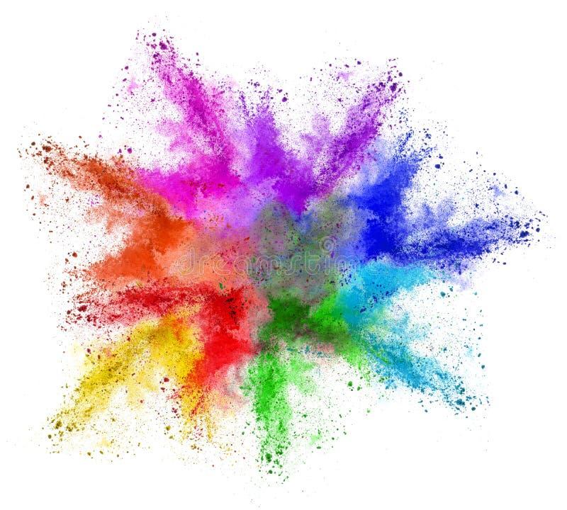 Nuvola variopinta astratta di colore della polvere di holi dell'arcobaleno fotografie stock libere da diritti
