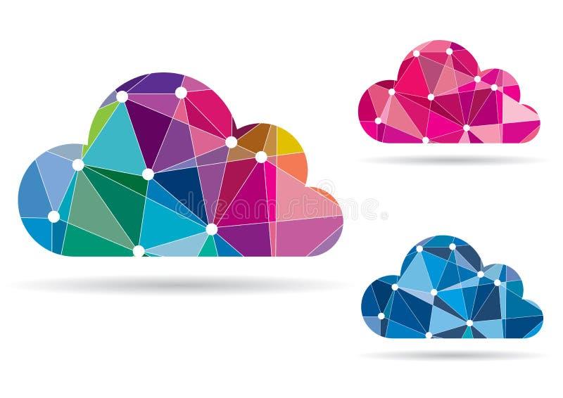 Nuvola variopinta astratta - vettore illustrazione vettoriale