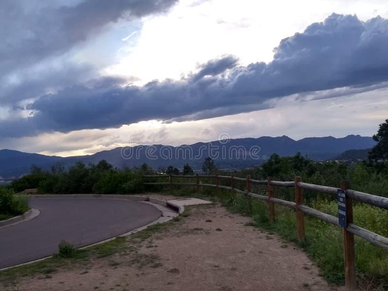 Nuvole al parco di Palmer fotografia stock