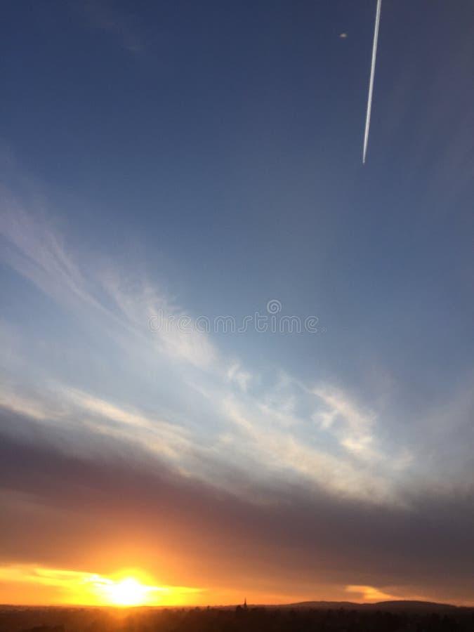 Nuvole brucianti immagine stock