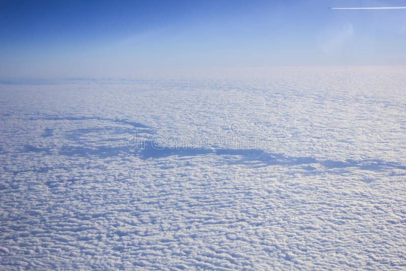 Nuvole dal volo immagini stock