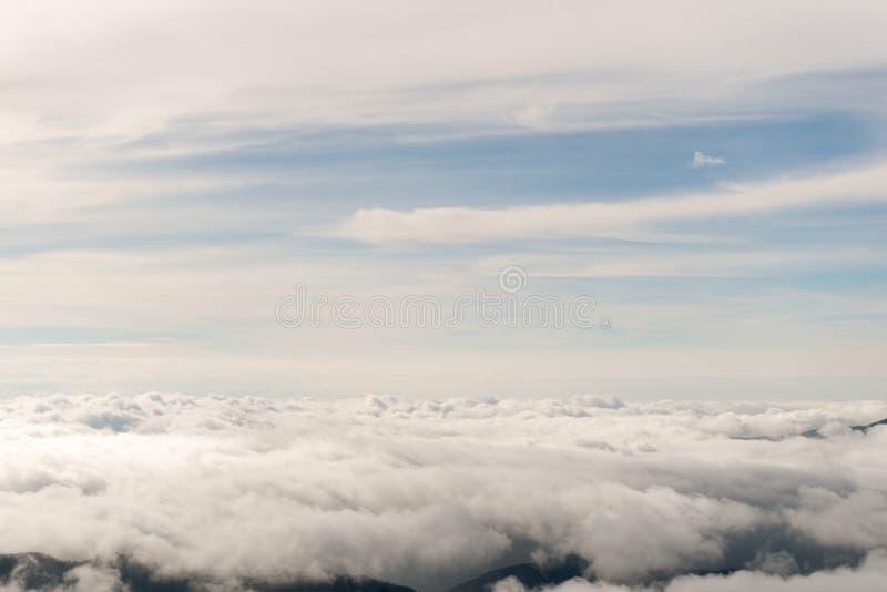 Nuvole dall'aereo immagini stock libere da diritti