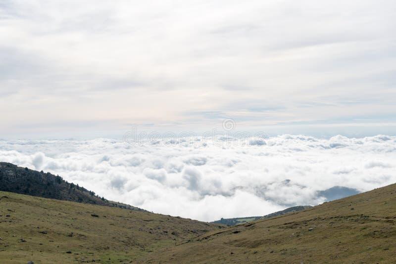 Nuvole dall'aereo fotografie stock libere da diritti