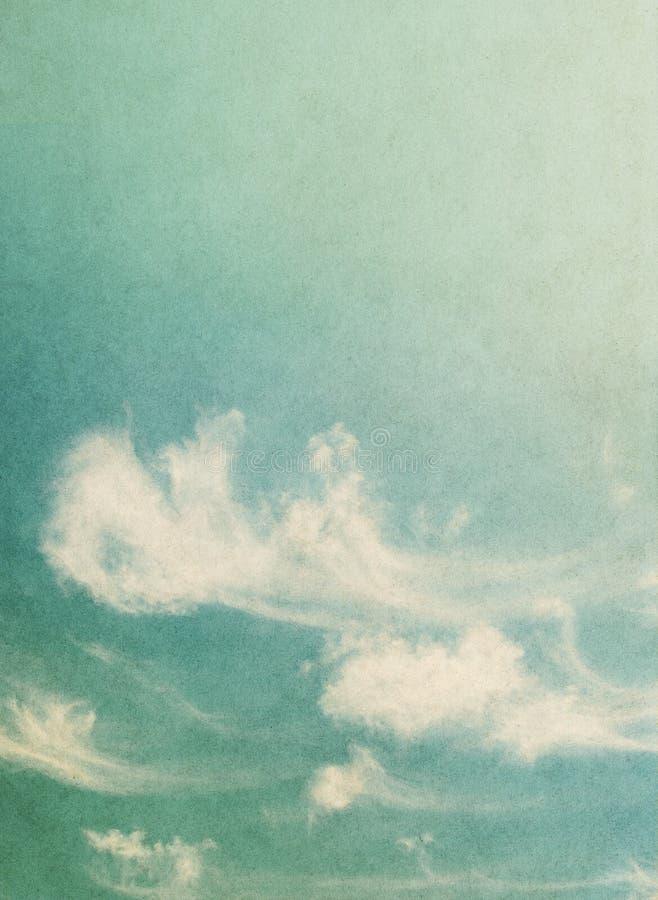 Nuvole del soffio dell'annata fotografie stock libere da diritti