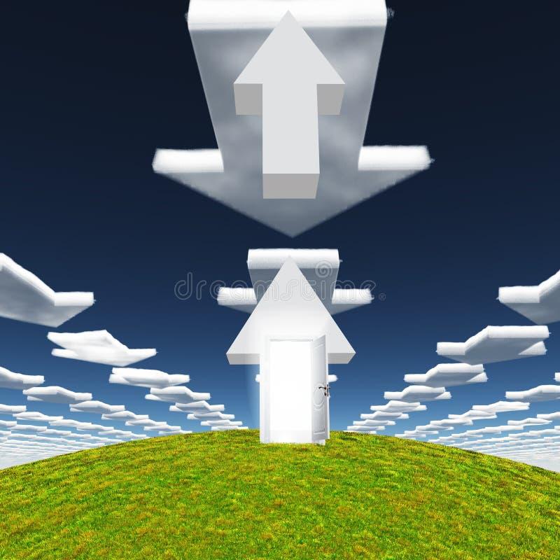 Nuvole delle frecce royalty illustrazione gratis