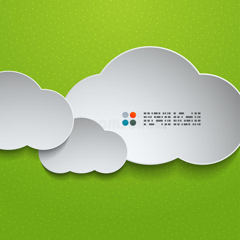 nuvole di bianco 3d illustrazione di stock
