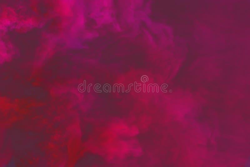 Nuvole di fumo misteriose scure sveglie fondo variopinto o struttura - illustrazione 3D di fumo illustrazione di stock