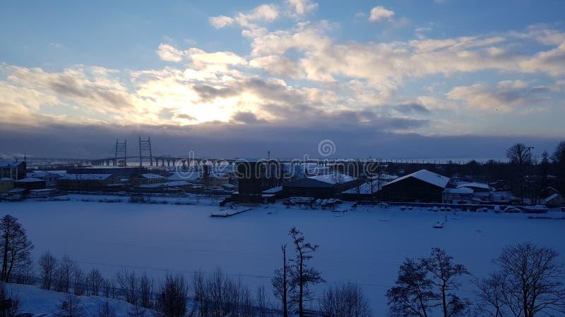 Nuvole di inverno immagini stock
