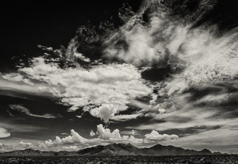 Nuvole di monsone in Arizona, U.S.A. fotografie stock