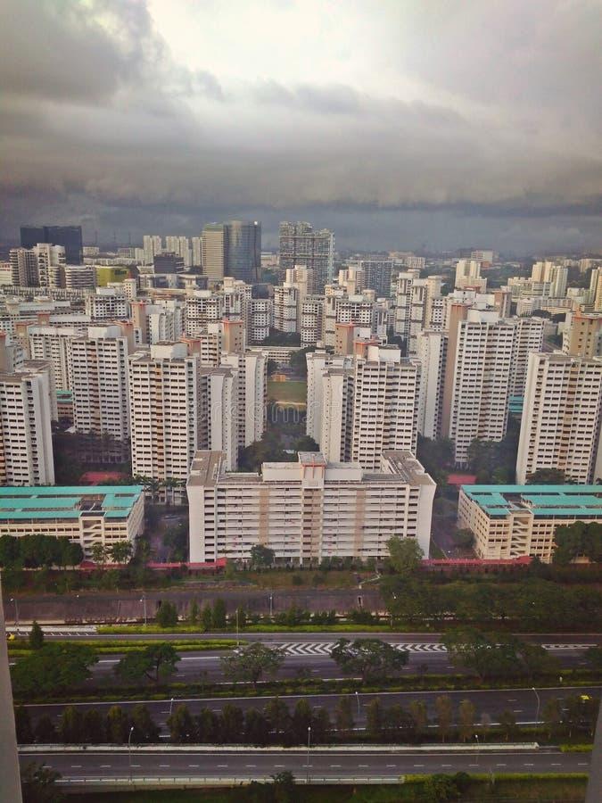 Nuvole di pioggia - Singapore fotografia stock