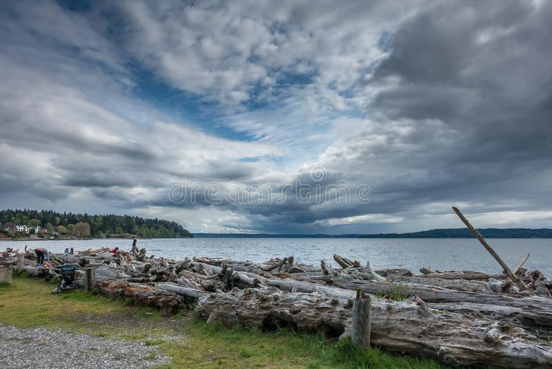 Nuvole di tempesta scure 4 fotografia stock