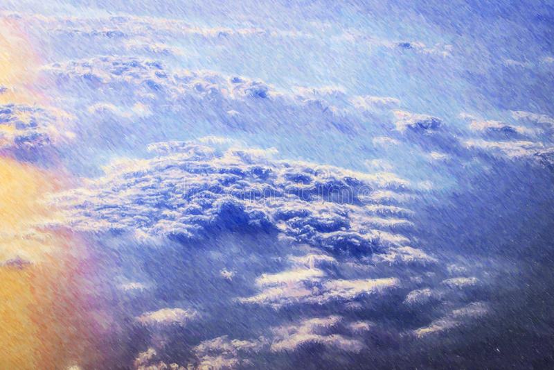 Nuvole e sole sopra i cieli royalty illustrazione gratis