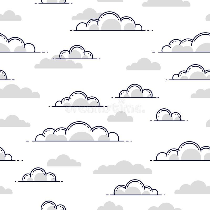 Nuvole fondo senza cuciture, tempo ed aria aperta, cielo del cloudscape royalty illustrazione gratis