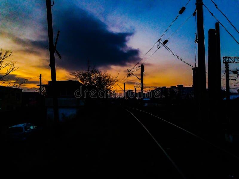 Nuvole locali fotografie stock