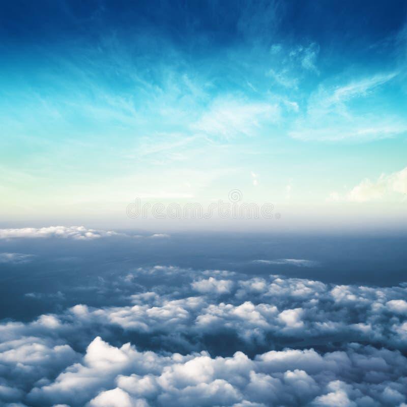 Nuvole nel panorama dell'atmosfera del cielo fotografia stock libera da diritti