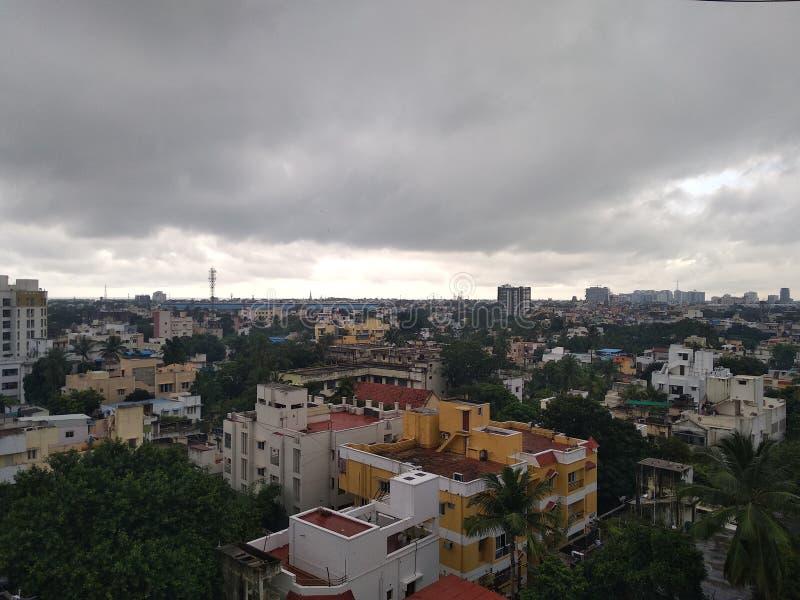 Nuvole piovose di Chennai fotografia stock libera da diritti