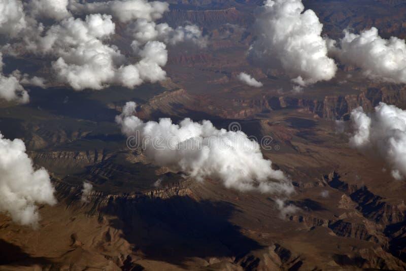 Nuvole sopra il Grand Canyon immagini stock
