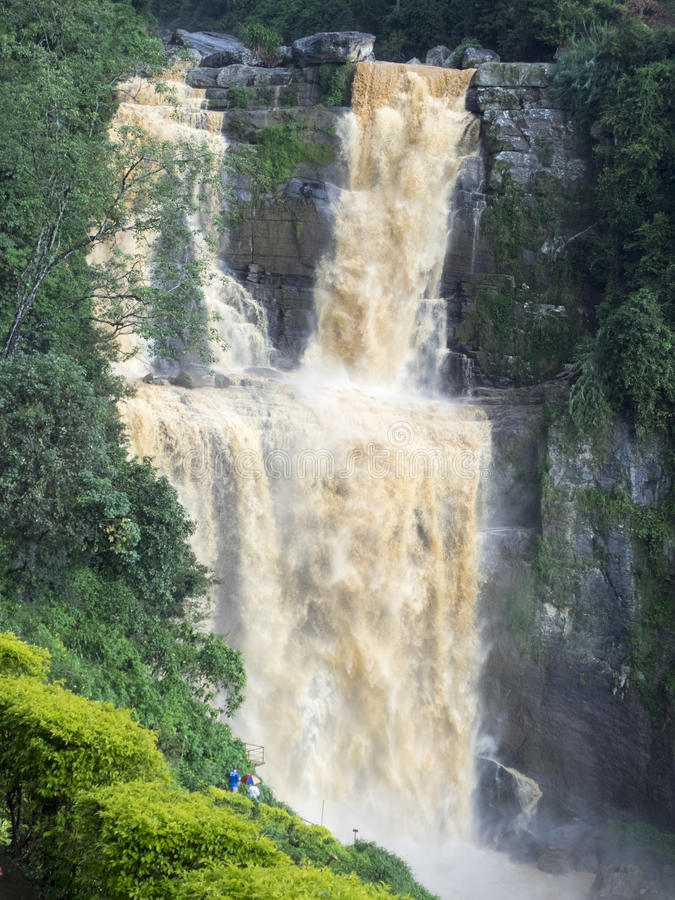 Nuwara Eliya waterfall, Sri Lanka royalty free stock image