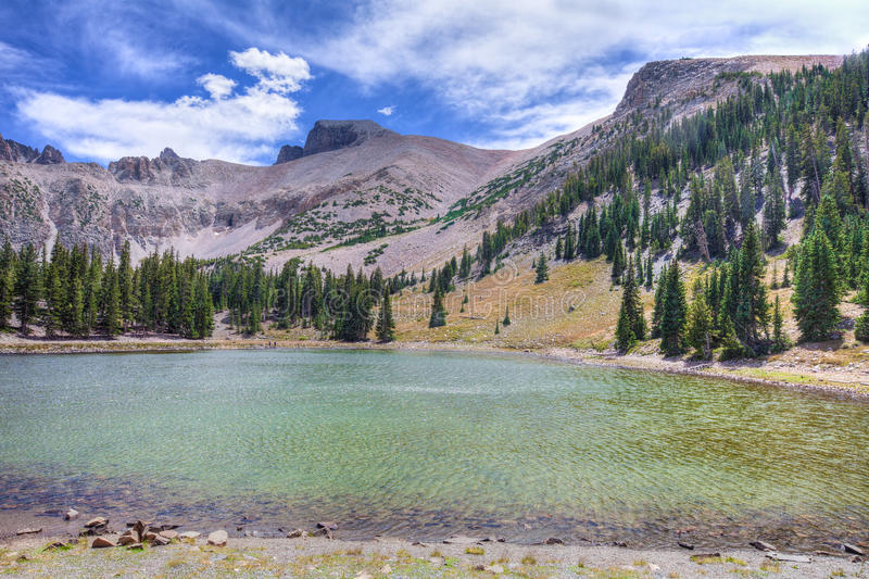 NV-Great Basin National Park-Apine Lakes Trail. NV-Great Basin National Park-Alpine Lakes Trail. Stella Lake is the most magnificent lake on this trail, with a stock image