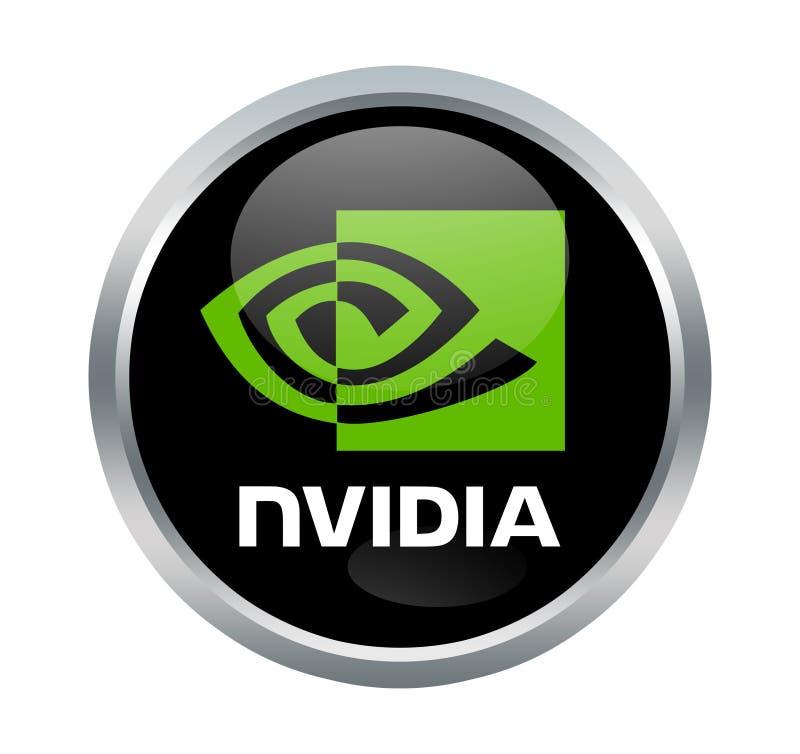 Nvidia företagstecken royaltyfri foto