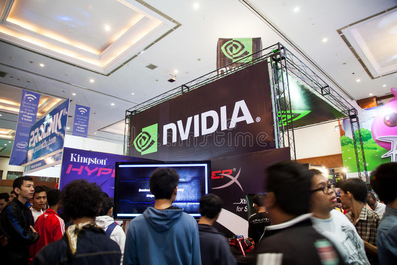 Nvidia in Indo-Spel toont 2013 stock afbeeldingen