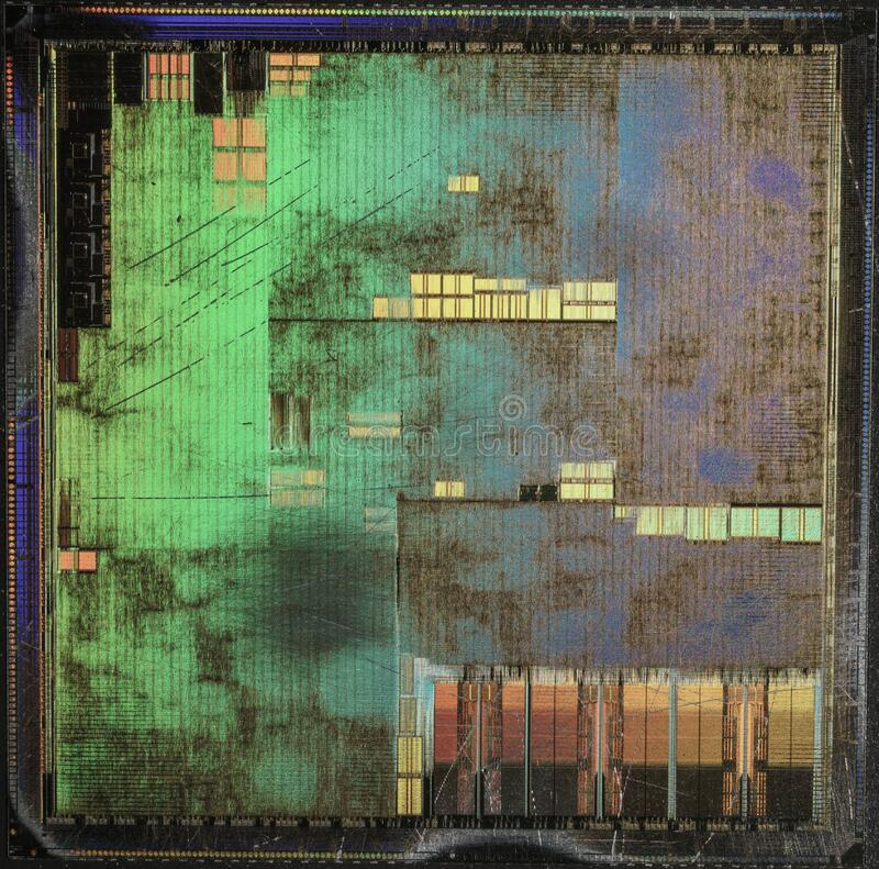 NVIDIA@180nm@Fixed-pipeline@NV15@GeForce2_GTS@F30213.01_0031A3___Stack-DSC03401-DSC03419_-_ZS-DMap royalty free stock photos