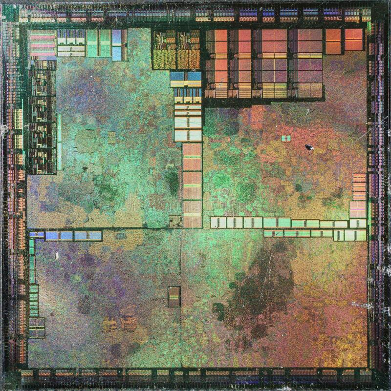 NVIDIA@180nm@Fixed-pipeline@NV11@GeForce2_MX400@Q26257.1_0315B3___Stack-DSC01049-DSC01078_-_ZS-DMap royalty free stock photos