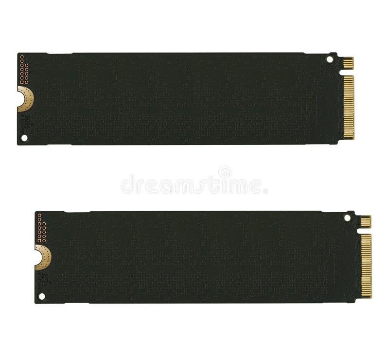 NVME M2 SSD-Festkörperscheibe für Datenspeicherung an der Hochgeschwindigkeitsnahaufnahme stockfotografie