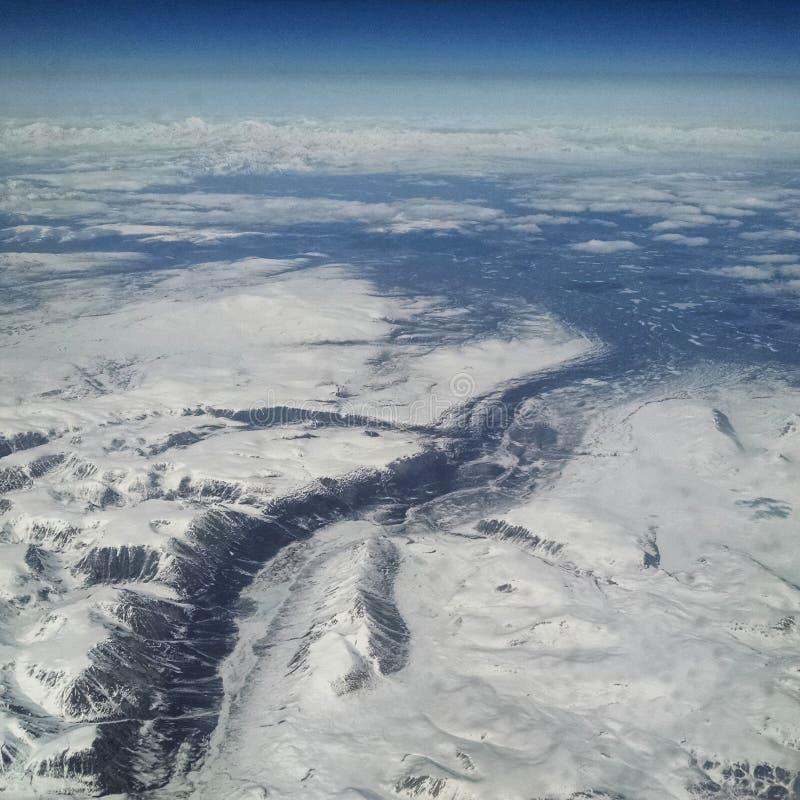 NW Canada van 30.000 voet royalty-vrije stock fotografie