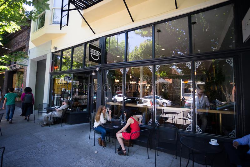 NW 23rd Barista Coffee Shop Portland Oregon royalty free stock photos