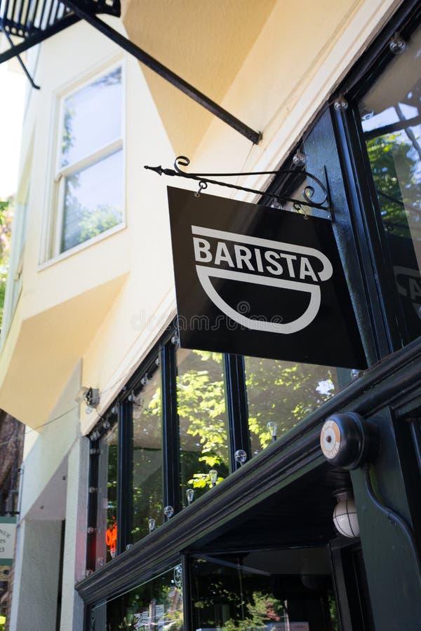 NW 23rd Barista Coffee Shop Portland Oregon royalty free stock photography