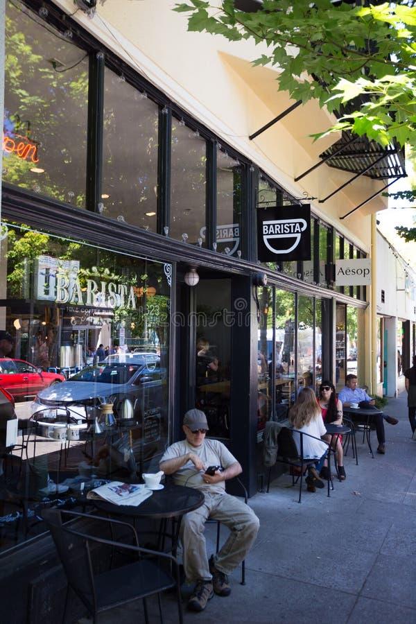 NW 23rd Barista Coffee Shop Portland Oregon royalty free stock photo