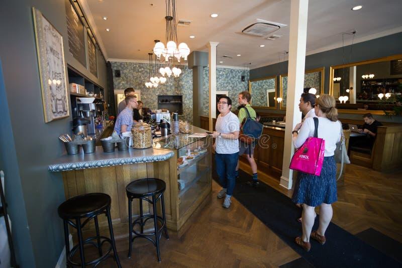 NW 23rd Barista Coffee Shop Portland Oregon stock photography