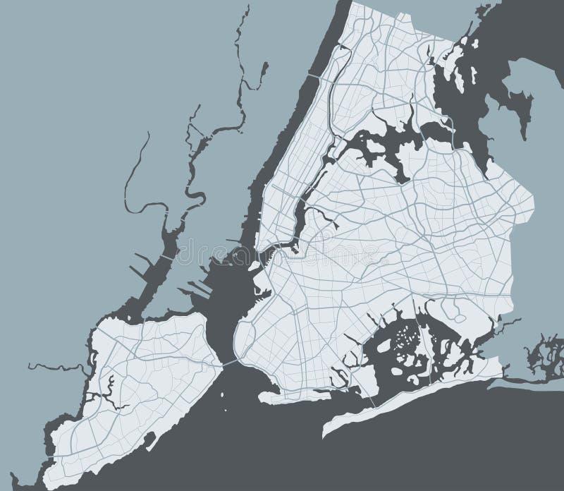 Ny约克市地图  向量例证