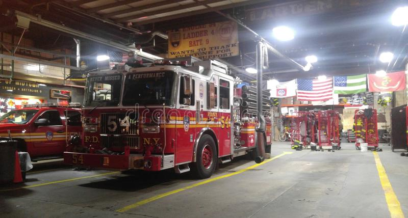 NY消防队 库存图片