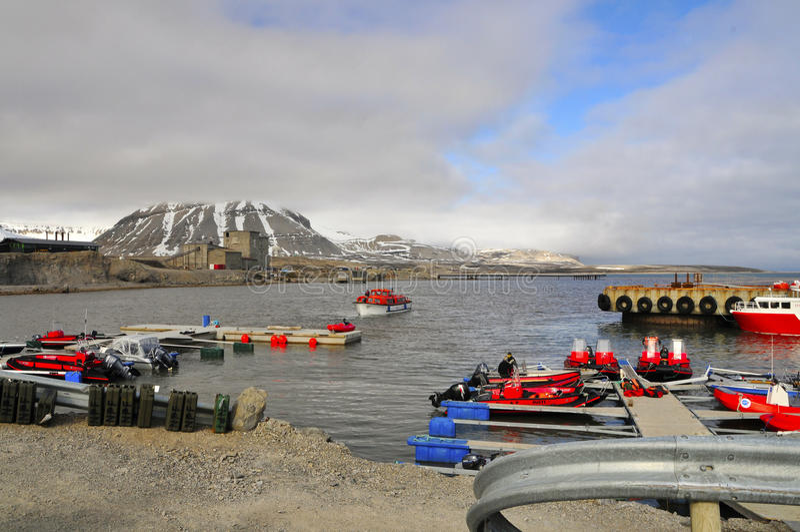 Ny-Ãlesund, Spitsbergen 免版税图库摄影