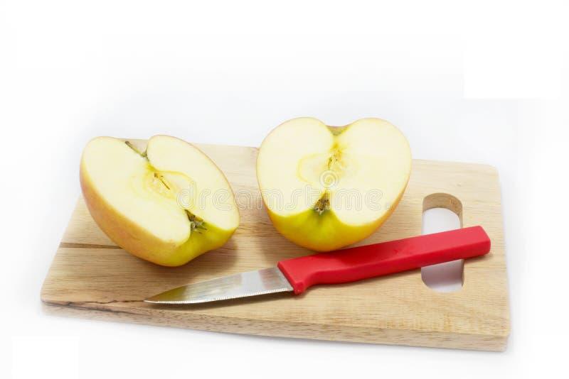 Ny äpple och kniv arkivbilder