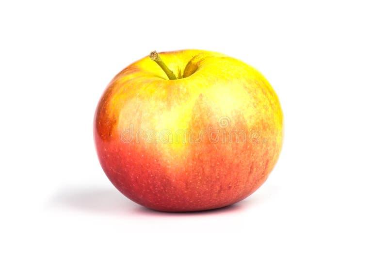 Ny äpplecloseup som isoleras på vit bakgrund arkivfoto