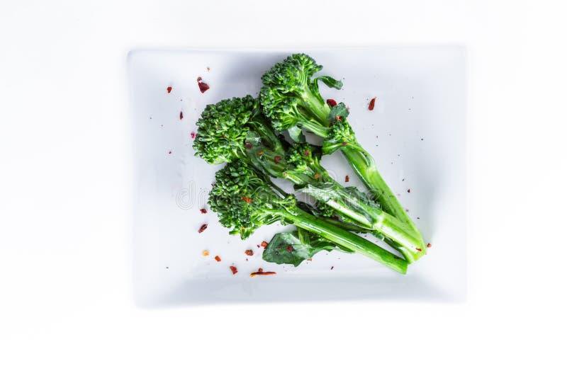 Ny ångad broccolini arkivbilder