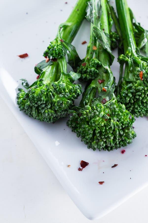 Ny ångad broccolini arkivbild