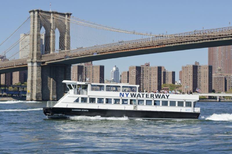 NY水路轮渡 图库摄影