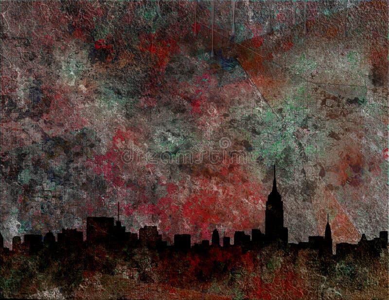 NY abstrakt royalty ilustracja