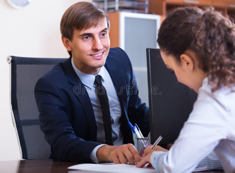 Ny anställd för yrkesmässig undervisning royaltyfria bilder