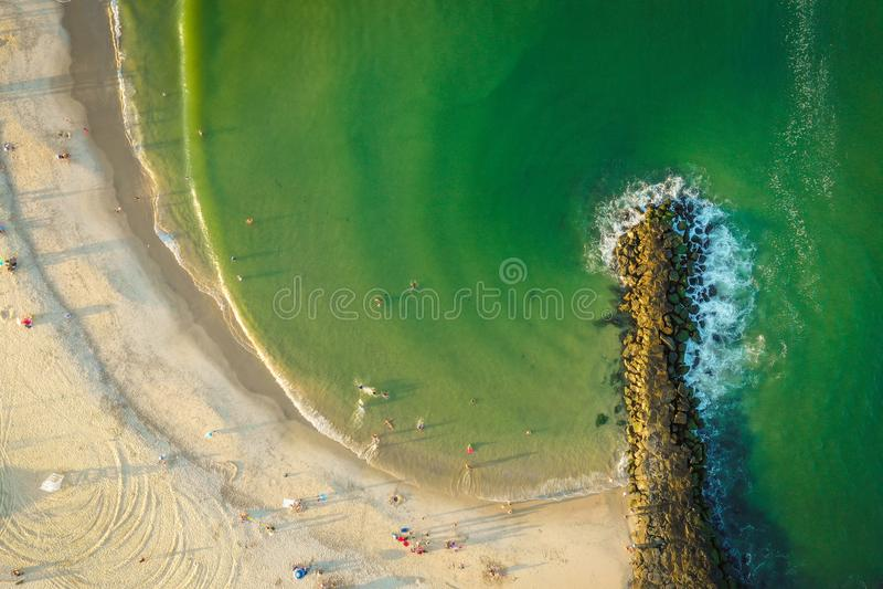 Ny antenn av den Belmar stranden - ärmlös tröja royaltyfri foto