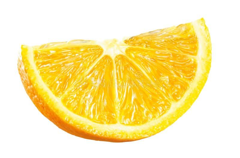 Ny apelsin som skivas på vit arkivfoton