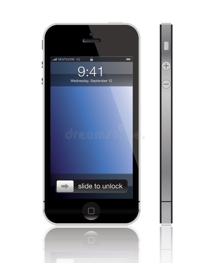 Ny Apple iPhone 5 royaltyfri illustrationer