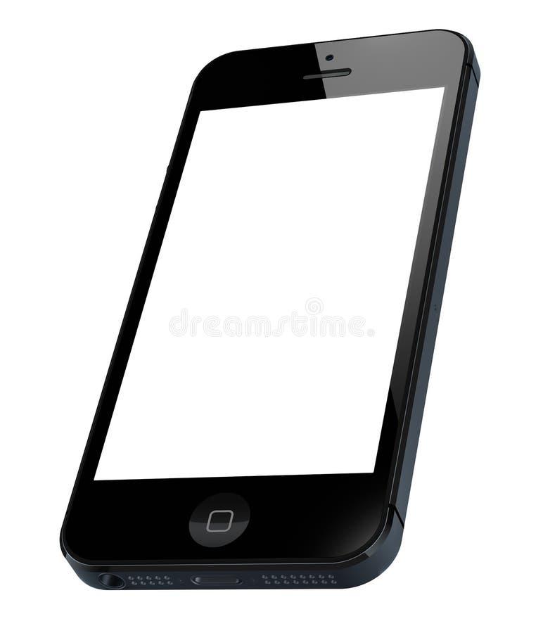 Ny Apple iPhone 5 stock illustrationer