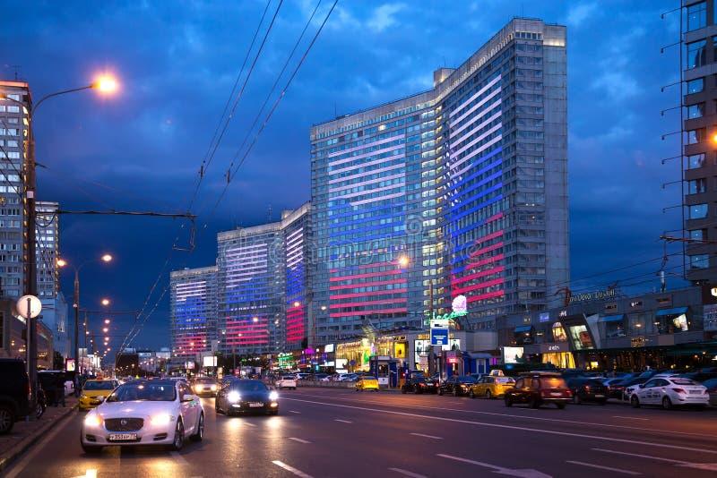 Ny Arbat aveny moscow Ryssland royaltyfri fotografi