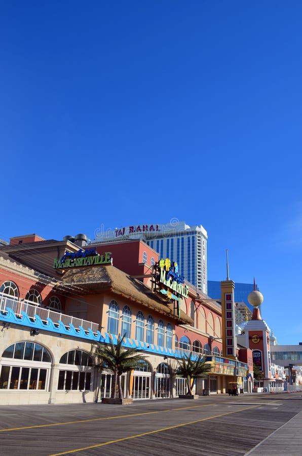 Ny Atlantic City strandpromenad - ärmlös tröja arkivbilder